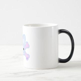 kawaii blue crossbones bunny coffee mug