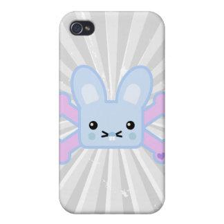 kawaii blue crossbones bunny covers for iPhone 4