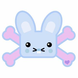 kawaii blue crossbones bunny cut outs