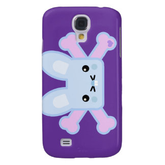 kawaii blue crossbones bunny galaxy s4 cases