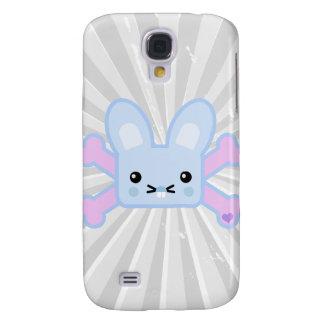 kawaii blue crossbones bunny galaxy s4 cover