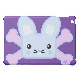 kawaii blue crossbones bunny iPad mini case