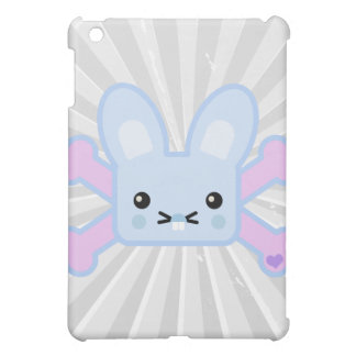kawaii blue crossbones bunny iPad mini cover