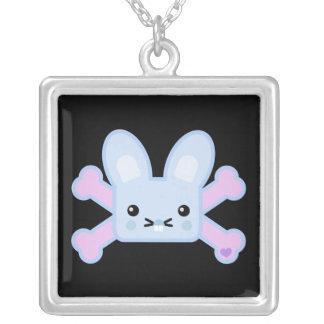 kawaii blue crossbones bunny jewelry