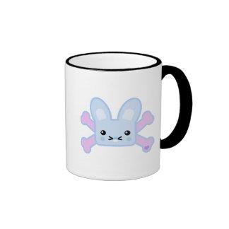 kawaii blue crossbones bunny mugs