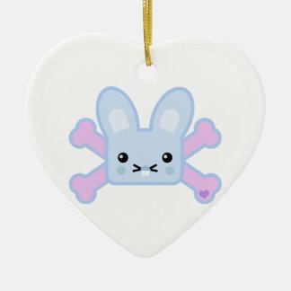 kawaii blue crossbones bunny ornaments