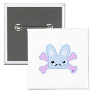 kawaii blue crossbones bunny pin