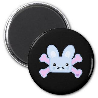 kawaii blue crossbones bunny refrigerator magnets