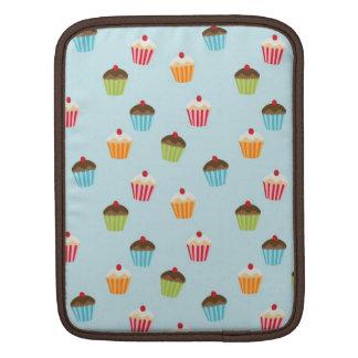 Kawaii blue cupcake pattern print iPad sleeve