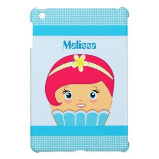 Kawaii Blue Cute Cupcake Character IPad Mini Case