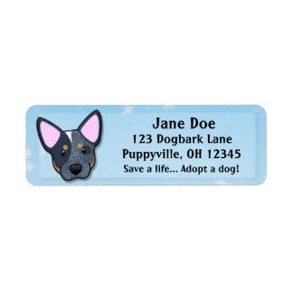 Kawaii Blue Heeler Custom Return Address Labels