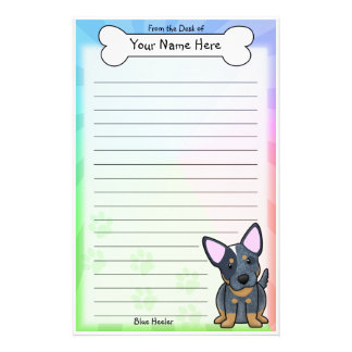 Kawaii Blue Heeler Stationery