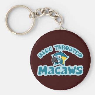 Kawaii Blue Throated Macaw Key Chains