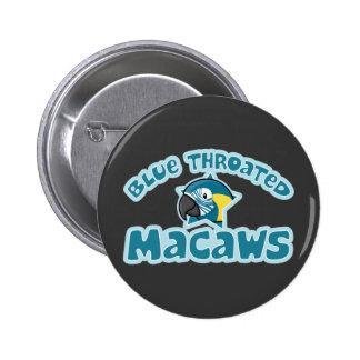 Kawaii Blue Throated Macaw Pinback Buttons