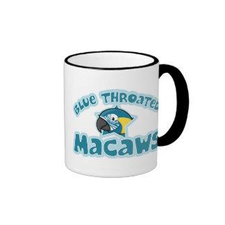 Kawaii Blue Throated Macaw Ringer Coffee Mug