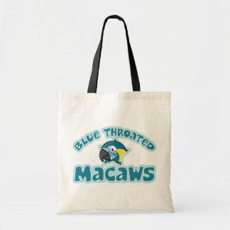 Kawaii Blue Throated Macaw Tote Bags