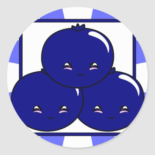 Kawaii Blueberry Basket (Boy) Sticker