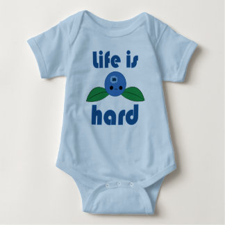 Kawaii Blueberry Life is Hard infant creeper