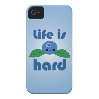 Kawaii Blueberry Life is Hard iPhone case