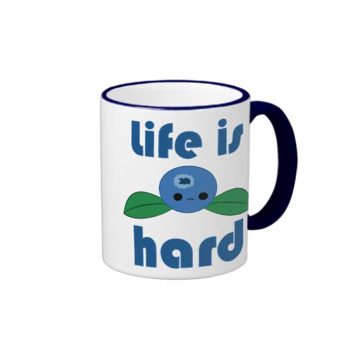 Kawaii Blueberry Life is Hard mug