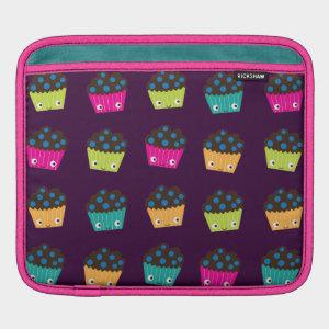Crazy Cute Kawaii Blueberry Muffins iPad Sleeve