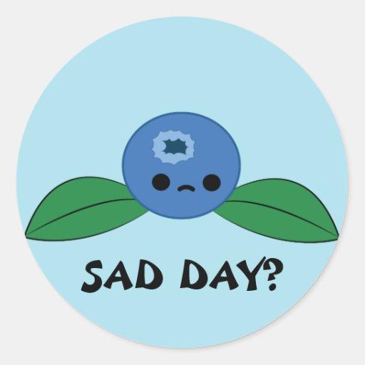 Kawaii blueberry sticker