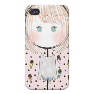 Kawaii Bohemian Gal iPhone 4/4S Case