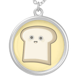 Kawaii Bread Silver Plated Necklace