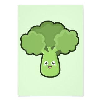 Kawaii Broccoli Card
