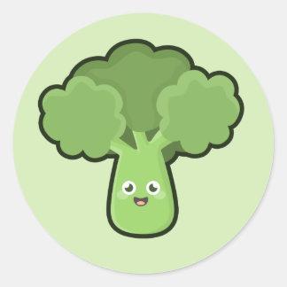 Kawaii Broccoli Classic Round Sticker