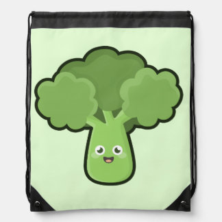 Kawaii Broccoli Drawstring Bag