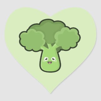 Kawaii Broccoli Heart Sticker