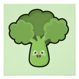 Kawaii Broccoli Poster