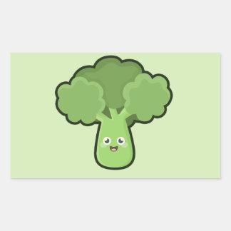 Kawaii Broccoli Rectangular Sticker