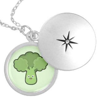 Kawaii Broccoli Round Locket Necklace