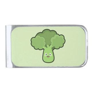 Kawaii Broccoli Silver Finish Money Clip