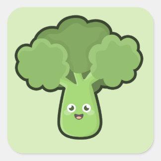 Kawaii Broccoli Square Sticker