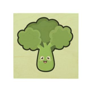 Kawaii Broccoli Wood Wall Art