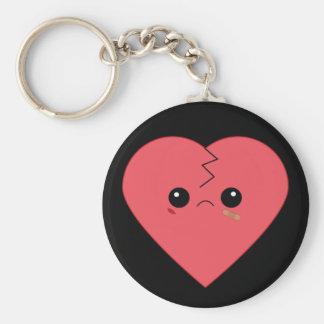 Kawaii broken heart keychain