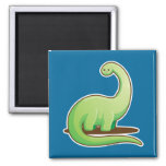 Kawaii Bronto 2 Inch Square Magnet