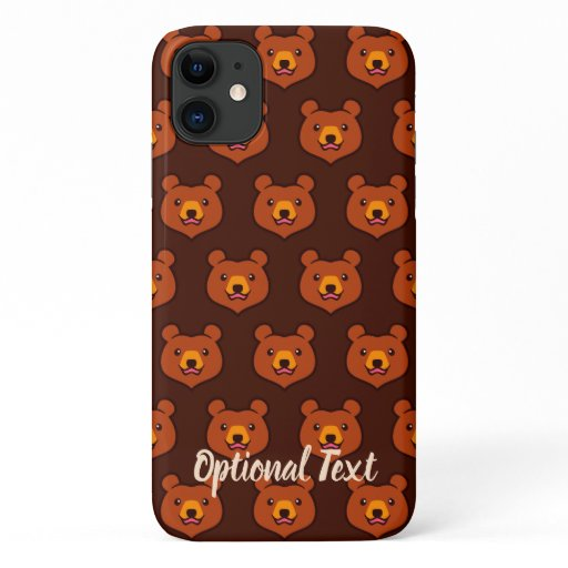Kawaii Brown Bear iPhone 11 Case
