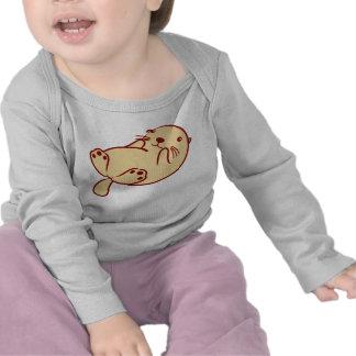 Kawaii Brown Sea Otter Tee Shirt