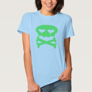 Kawaii Bubble Skull Crazy Green T-shirts