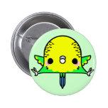 Kawaii Budgie (You change the Background!) Pinback Button