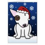 Kawaii Bull Terrier Christmas Card