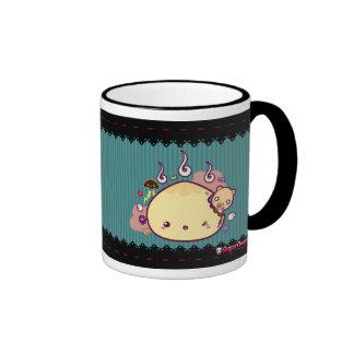Kawaii Bun Attacked! Ringer Coffee Mug