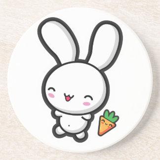 Kawaii Bunny and Carrot Drink Coaster