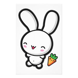 Kawaii Bunny and Carrot Stationery