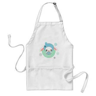 kawaii bunny blue adult apron