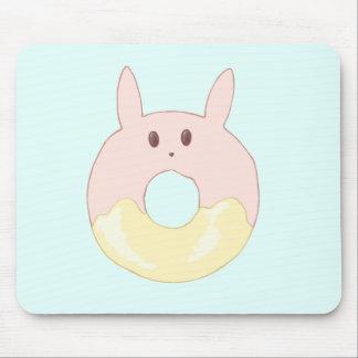 Kawaii Bunny Donut Mouse Pad